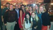 SM&'s Real Estate Team celebrates the holidays at the Beehive on December 18. From left to right: Jon Pappas, Sean Hathaway, Ed Cafasso, Lauren Michaels, Anna Rabin, Helene Solomon, Ally Quinby, Kristen Wetherbee and Alison Thompson.