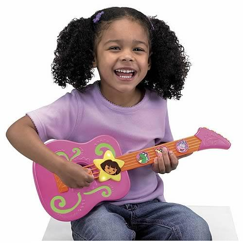 Fisher Price caught flak from consumer safety groups for making a 93-decibel Dora Tunes Guitar without a volume control.