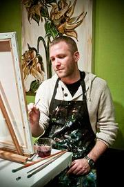 """With no art experience other than college, Nick Amber, a first time patron of The PaintBar in Newton, MA found it to be """"fun!"""""""