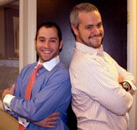 CustomMade co-founders Seth Rosen(left) and Michael Salguero