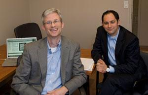 Elon Boms, left, and Bill McCullen of LaunchCapital see small fund firms having an advantage.