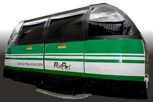 The Rail-Pod plans to be the little electric two-person engine that could.