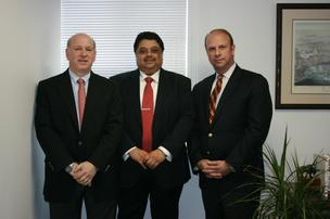 GXT Green management team from left to right: Ed Weisberg, senior vice president of marketing and business development, Manas (Bob) Chatterjee, president and CEO, Michael Vanin, COO and senior vice president of sales.