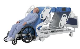 Next Health LLC has developed a system so that bedridden patients to move from bed to wheelchair and back again.