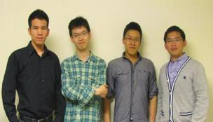 A team from Tufts called EOS, consisting of Greg Wong, Wenshiang Chung, Xihan Zhang, and Yannru Cheng, competed in Microsoft's Imagine Cup competition.