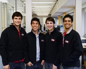 Left to right, Thomas Georgiou, Liyan David Chang, Brett van Zuiden and Anand Dass, co-founders of CloudTop.