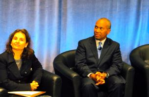 Daniela Rus, director of CSAIL at MIT, and Gov. Deval Patrick announced several initiatives aimed at creating a cluster of Big Data companies in the state.