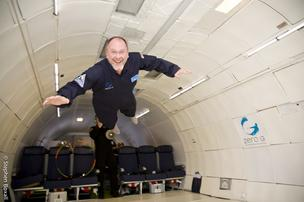 Former Vertex CEO Joshua Boger on a Zero-G zero-gravity flight.