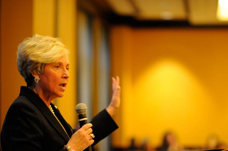 Former Tufts Medical chief executive Ellen Zane says the Boston teaching hospital won't embark on a CEO search any time soon.