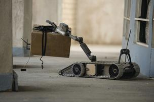 IRobot 310 SUGV features a highly dexterous manipulator for investigating and neutralizing suspicious objects.