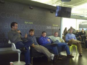 Left to right, Dyn CRO Kyle York, CEO Jeremy Hitchcock, CTO Tom Daly, CPO Cory von Wallenstein and COO Gray Chynoweth.