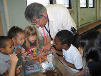 Students at the Brickett Elementary School in Lynn checked out marine life during a science class featuring a curriculum developed with the help of the Marine Science Center at Northeastern University and General Electric Co.'s Aviation unit in Lynn.