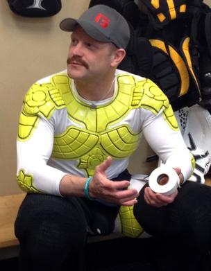 Bruins Goalie Tim Thomas has been using pads made by G-Form for more than a year.