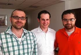 COO Matt Kalish (left), CEO Jason Robins and CTO Paul Liberman co-founded DraftKings last year.