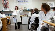 Biogen Idec had 493 online job listings tracked by Simply Hired in February. The biotech firm is based in Weston, but is relocating back to Cambridge, where it already has a significant workforce.