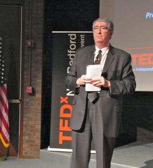 Jack Shoykhet, founder of government and Fortune 1000 consulting business, JBS Group Inc., spoke at Wednesday's first-ever TEDx New Bedford.
