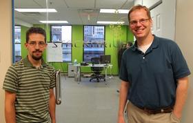 Stackdriver's technical team is led by Jeremy Katz (left) and Patrick Eaton.