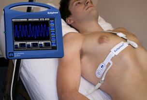 Respiratory Motion respiratory monitor ExSpirion (pictured here) has been cleared by the  the U.S. Food and Drug Administration.