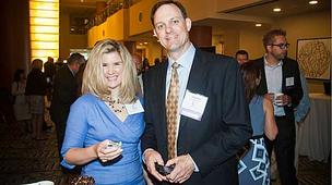 Betsy Dupre with her honoree husband Dave, CTO of Educate Online at the 2012 CIO of the Year hosted by Mass High Tech and the Boston Business Journal at the Renaissance Hotel.
