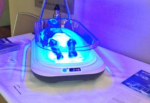 Firefly, pictured here, provides phototherapy using LED lights to infants with jaundice.