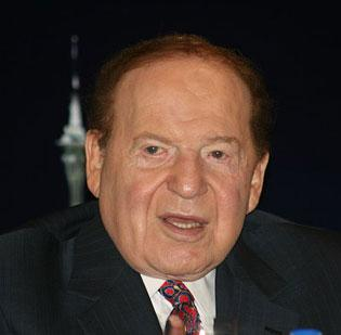 Las Vegas Sands Chairman (and Boston native) Sheldon Adelson. The company will not pursue a Massachusetts casino, a spokesman said.