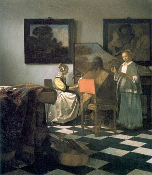 """A Vermeer, """"The Concert,"""" is one of 13 paintings stolen from the Isabella Stewart Gardner Museum in 1990, which is now the subject of a possible ad campaign as FBI and U.S. Attorney's Office investigators intensify their search."""