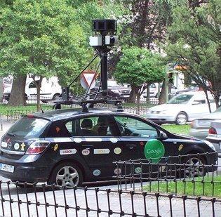 A Google street mapping car.