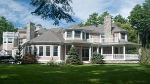 Exterior photo of Curt Schilling's Massachusetts house
