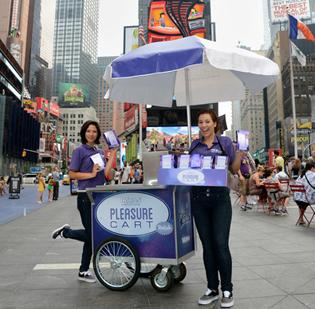 "Trojan's ""Pleasure Carts"" reportedly gave away 3,000 vibrators in New York City events. Boston Mayor Thomas M. Menino wants to make sure that doesn't happen on City Hall Plaza."