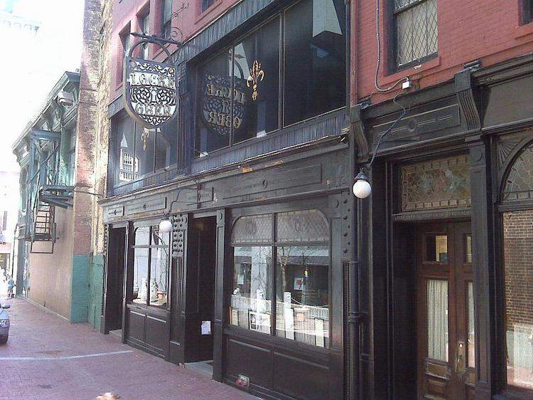 The front of the Locke-Ober restaurant on Winter Place in Boston. The restaurant is reportedly closed pending the sale of its building.