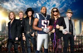 Jerod Mayo with Aerosmith