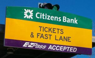 Mass. Turnpike tollbooth sign