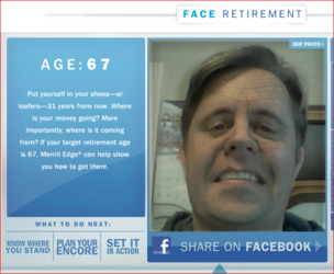 BofA Merrill Lynch face retirement calculator screen grab