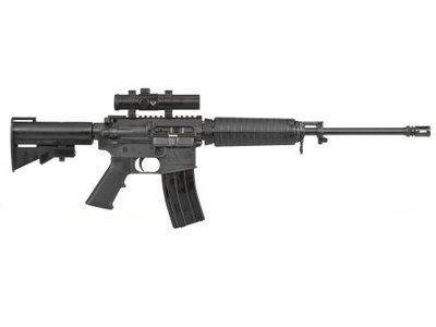 Photo of a Bushmaster .223 assault rifle like the one used in the Newtown school killings.