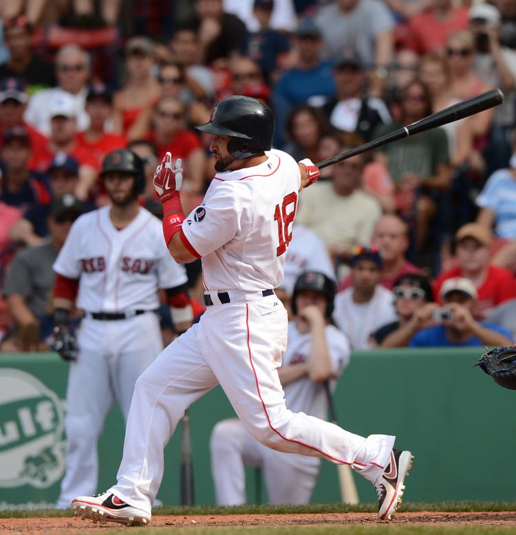No. 5: Boston Red Sox outfielder Shane Victorino. 2013 salary: $13 million (year 1 of 3). Age: 32. Record as of July 22: Batting .290 with 10 HR, 26 RBI.