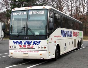 Fung Wah bus, parked