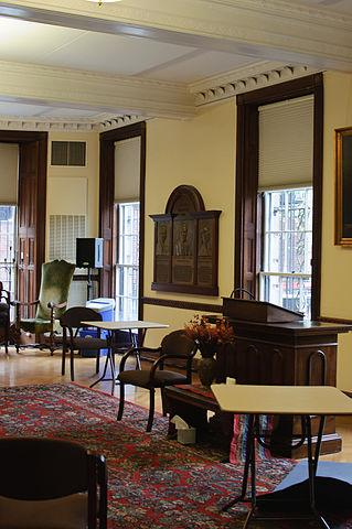 An interior view of the UUA's longtime headquarters at 25 Beacon St. The organization plans to sell the building and move to Boston's Seaport.
