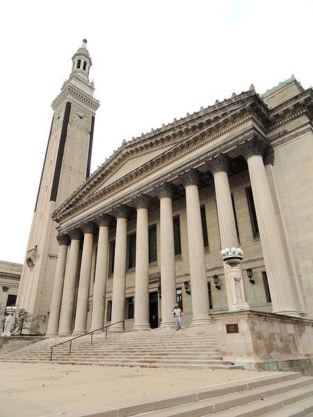 Springfield City Hall, where 21 homes sold quickly in a tax-title auction, Tuesday.