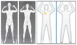 TSA full-body scanner images: Old X-ray scans vs. new millimeter-wave scans