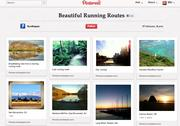 "Boston fitness tracking startup Runkeeper's ""beautiful running routes"" pinboard probably falls into the inspirational category."