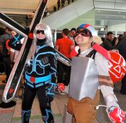 Jennifer Webster (Sivir) and Gabriel Solis (Ziggs) traveled from New York to attend PAX East 2012.