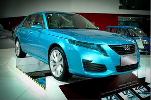 Photo of BAIC's C70 sedan in light blue