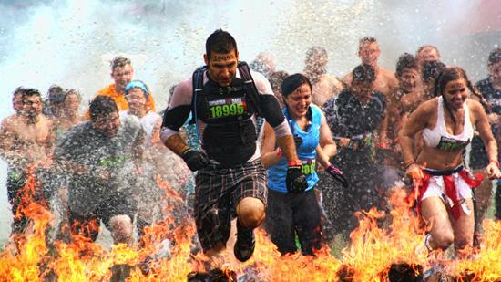 Yes, Spartan Race obstacle courses include running through fire. The company is moving its HQ to Boston after an investment by Boston VC firm Raptor Consumer Partners.