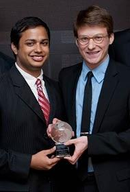 Minhaj Chowdhury, left, and Sam Jockel co-founded Ashalytics in order to address health problems in developing countries.