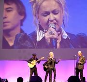 Cyndi Lauper performs at the HubSpot 2012 Inbound conference in Boston on Tuesday.
