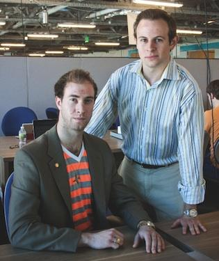 Abroad101 co-founders Adam Miller, left, and Mike Stone. Miller remains as CEO of the company after its downsizing, while Stone, formerly the company's president, no longer holds an operational role.