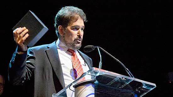 Pegasystems founder and CEO Alan Trefler accepted his award at the Mass High Tech (MHT) and Boston Business Journal (BBJ) Innovation All Stars event held Wednesday at the House of Blues.