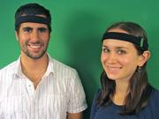 """Axio is developing a """"next generation connected health device capable of both monitoring and improving people's ability to get 'in the zone.'""""The startup, co-founded by Arye Barnehama and Laura Berman (pictured here), says it recently completed manufacturing prototypes of its headband."""