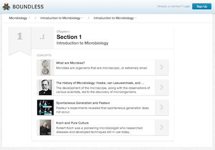 Boundless said it has expanded its free online alternative to college textbooks to 18 subjects, including microbiology.