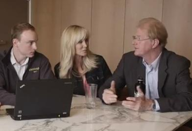 Actor and environmentalist Ed Begley Jr., right, discusses the Ekotrope software with his wife, Rachelle Carson-Begley, and Ekotrope co-founder Cy Kilbourn.
